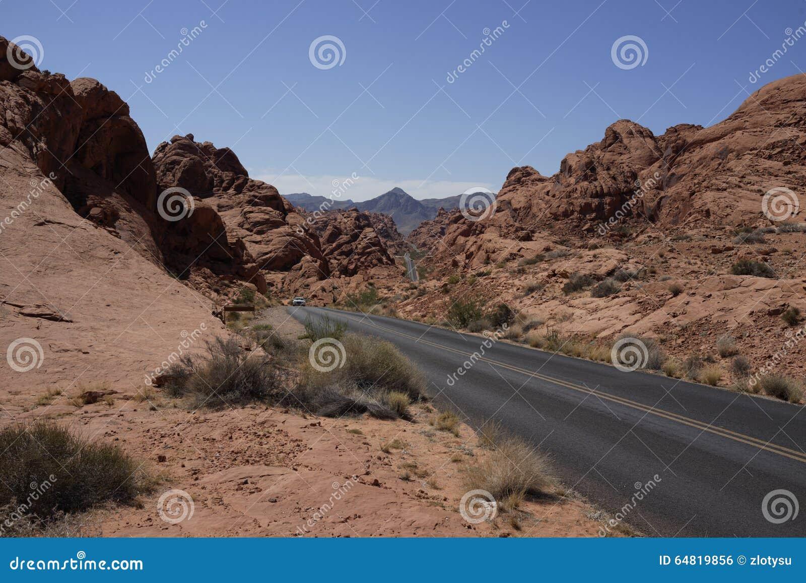 Dal av brandvägen (Nevada, USA)