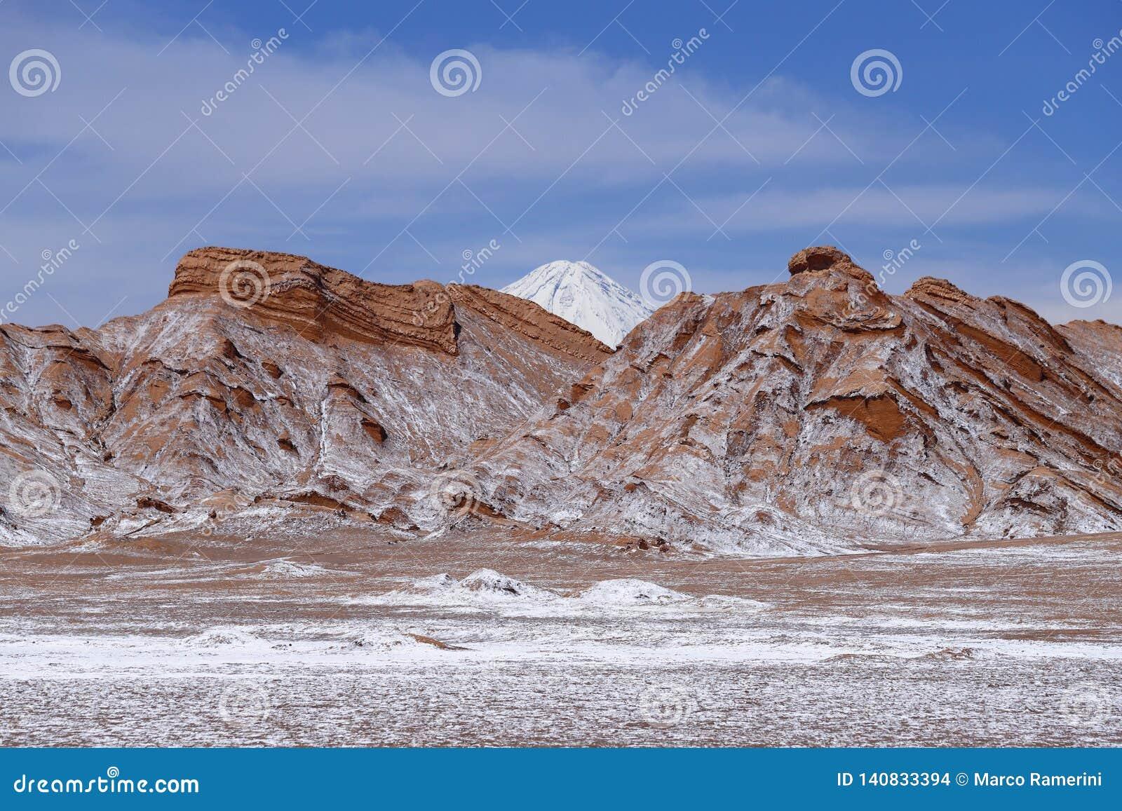 Dal av månen - Valle de la Luna, Atacama öken, Chile