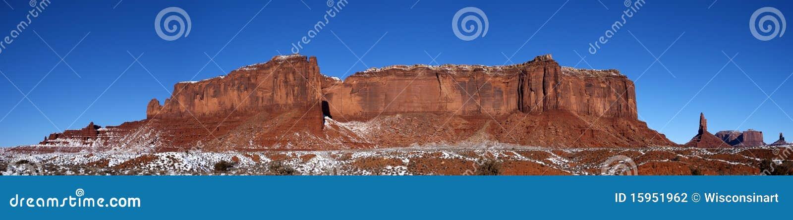 Dal för snow för kant för monumentbergpanorama