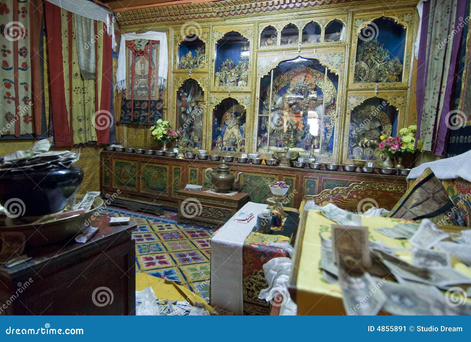 Dalai Lama Room Stock Image Image 4855891