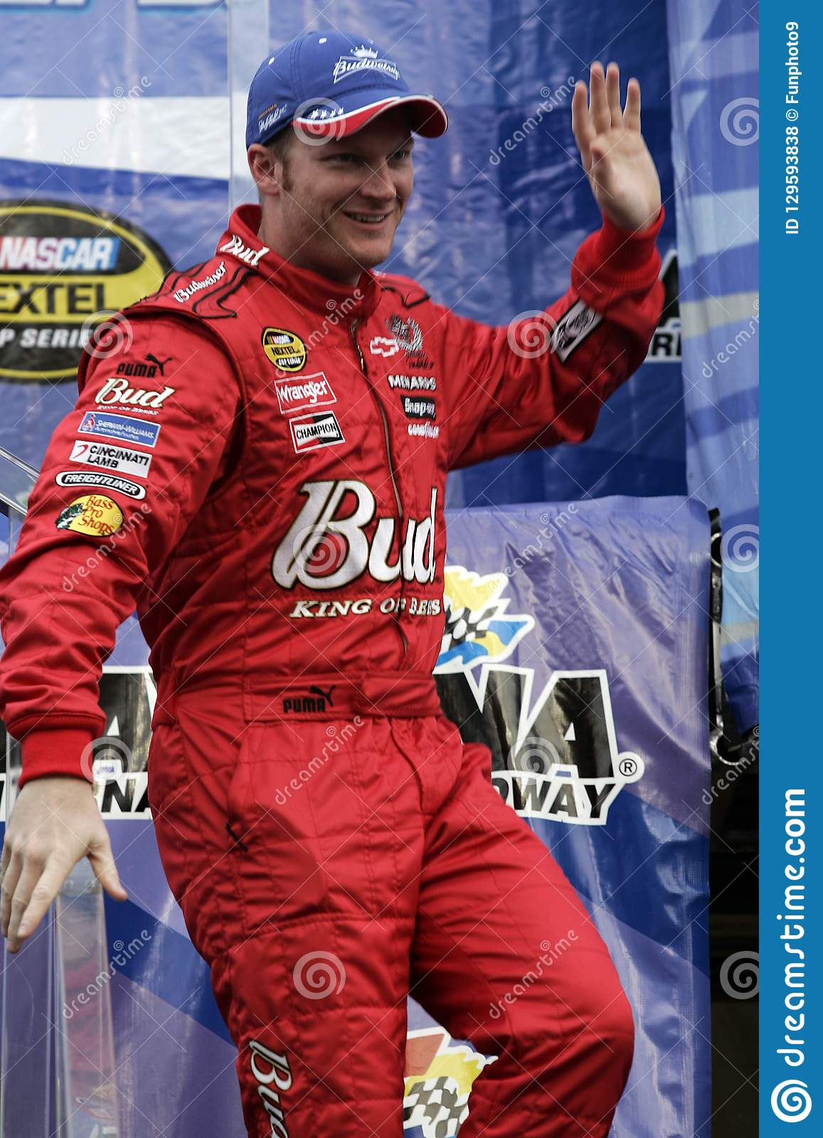 Dale Earnhardt Jr Attends Drivers Introduction Prior To The Start Of NASCAR Nextel Cup Pepsi 400 At Daytona International Speedway In Beach