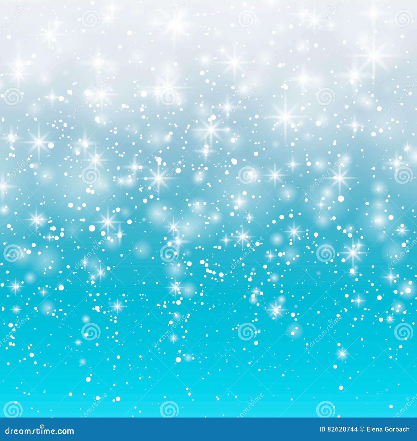 Dalende sneeuw op een blauwe achtergrond Vectorillustratie 10 eps Het abstracte wit schittert sneeuwvlokachtergrond Magisch Sn va