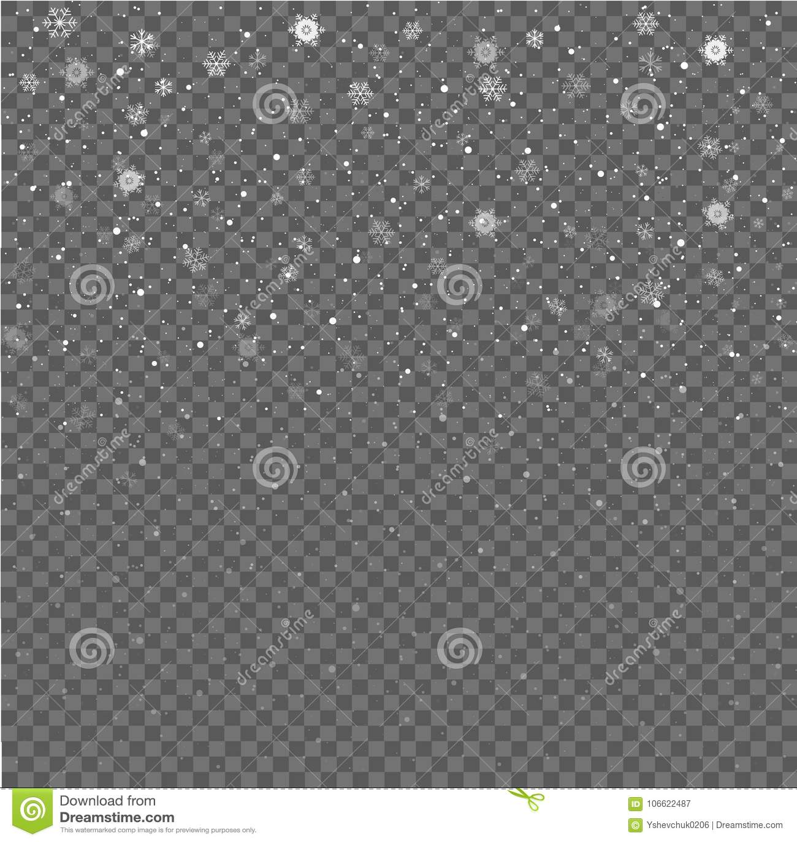 Dalende Sneeuwvlokken op Gray Background De sneeuw van Kerstmis sneeuwval De winter komt Vector illustratie