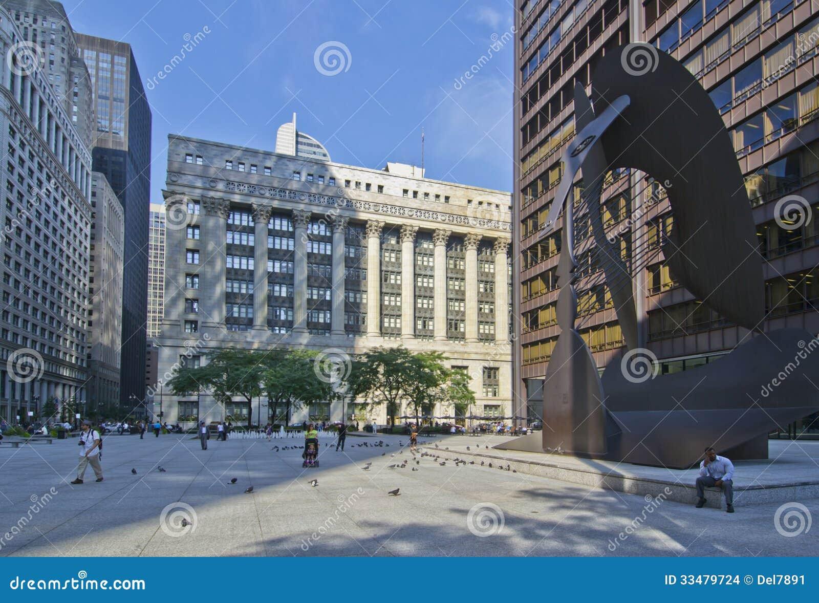 Daley plaza i Chicago