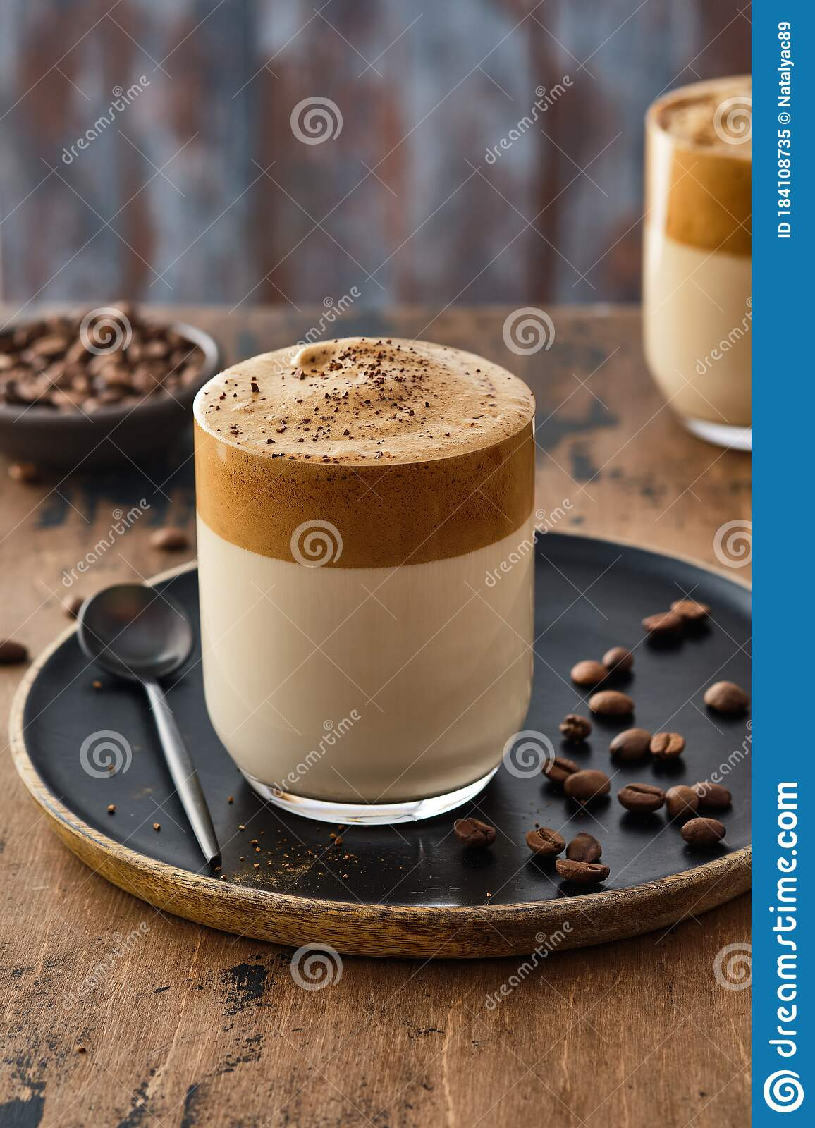 Dalgona Coffee Or Whipped Instant Coffee. Dalgon Coffee Is ...
