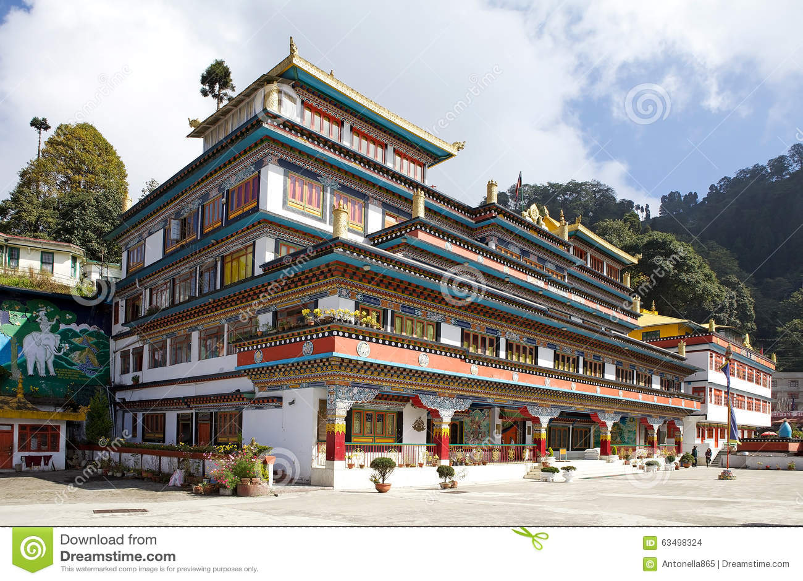 Dali Monastery Darjeeling India Editorial Stock Image Image Of