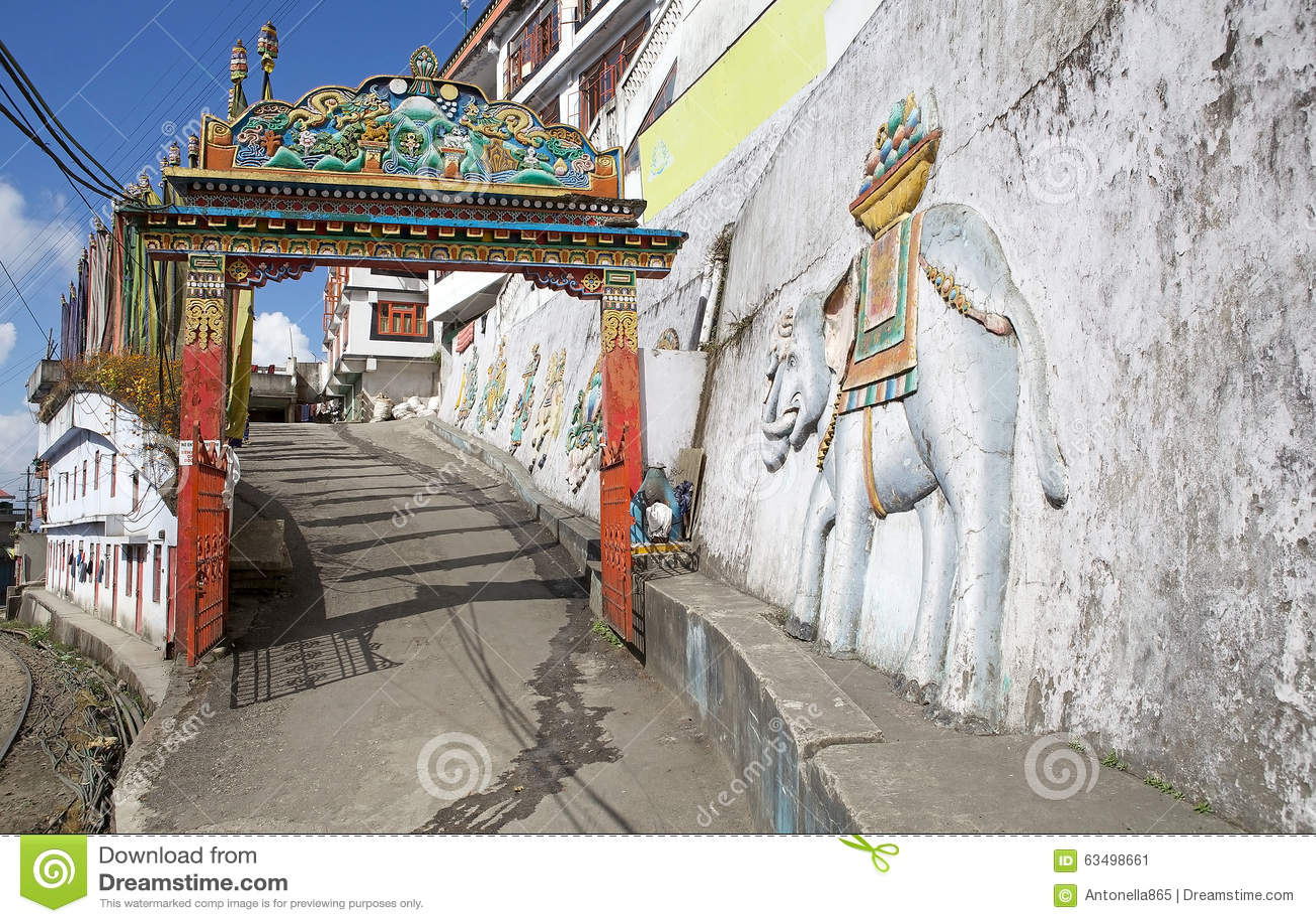 Dali Monastery Darjeeling Indien Stockbild Bild Von Dali