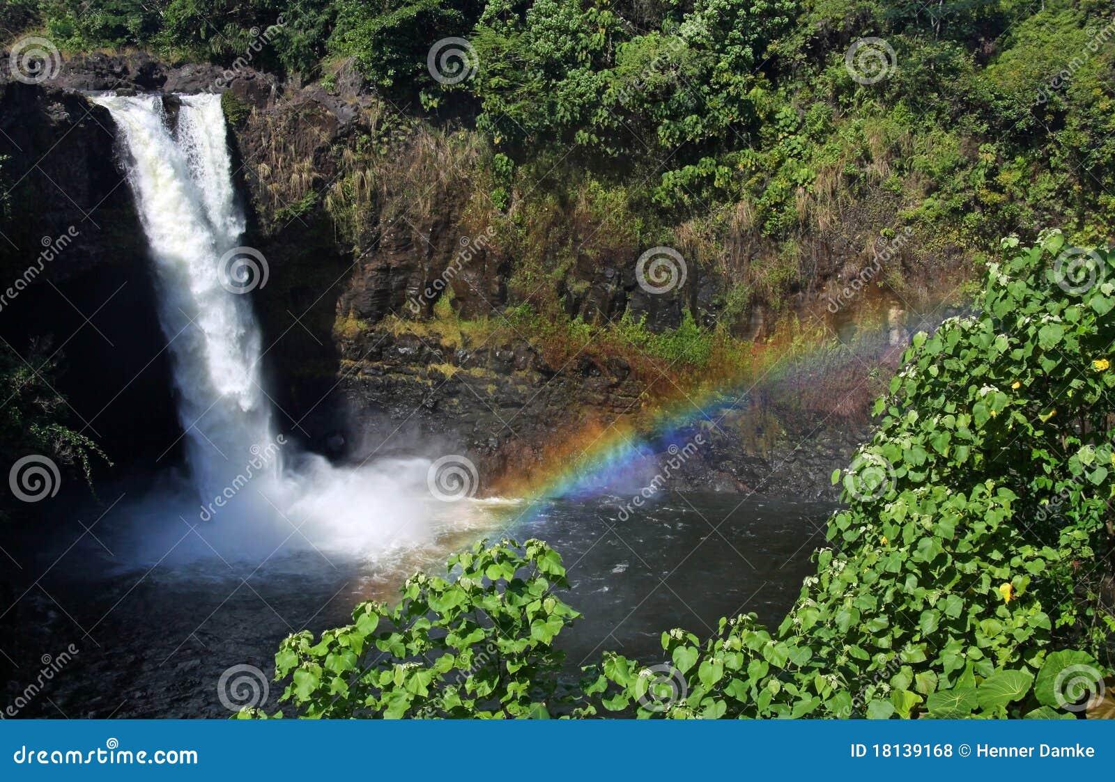 Dalingen van de regenboog (Groot Eiland, Hawaï) 01