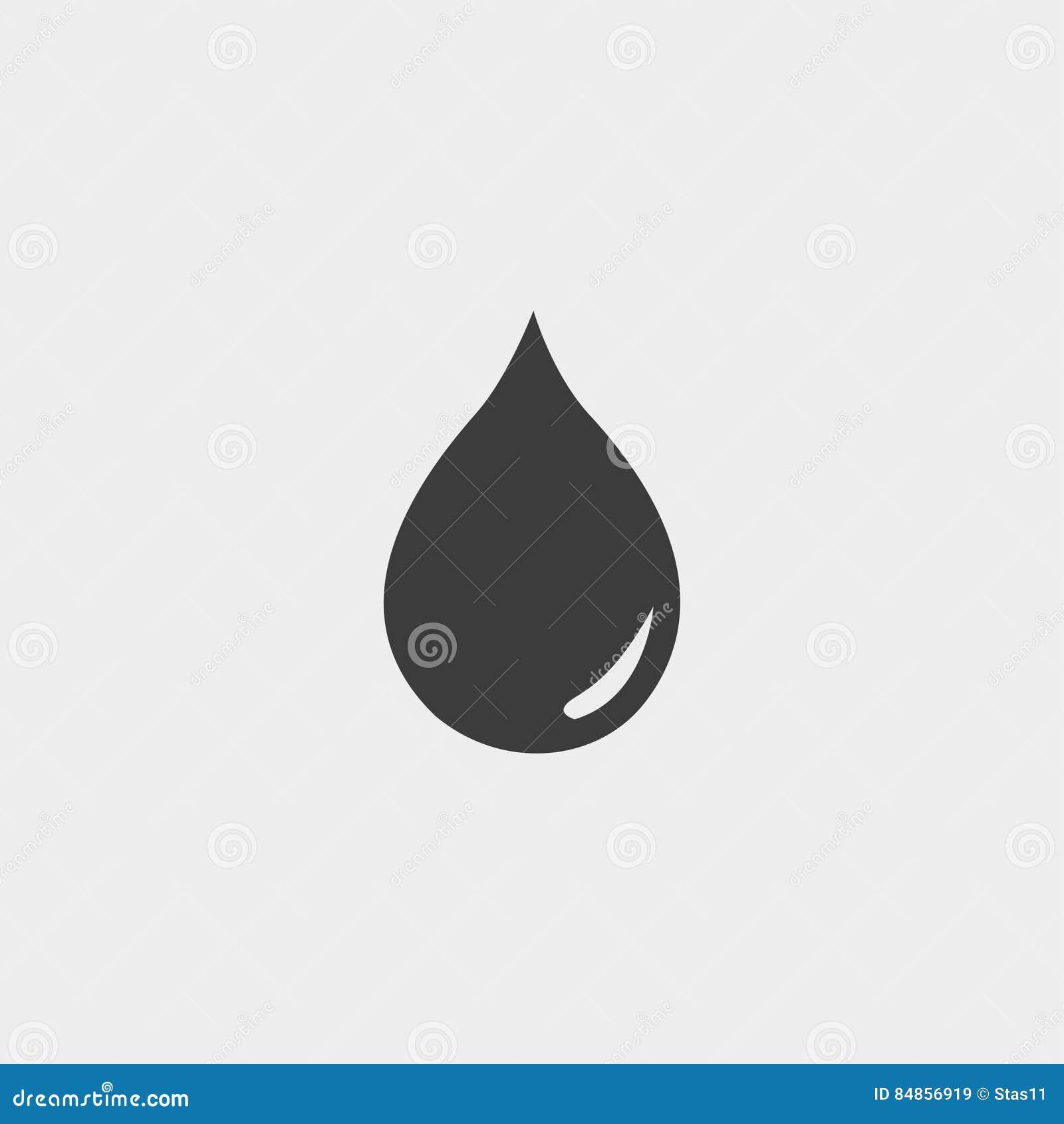 Dalingspictogram in een vlak ontwerp in zwarte kleur Vector illustratie EPS10