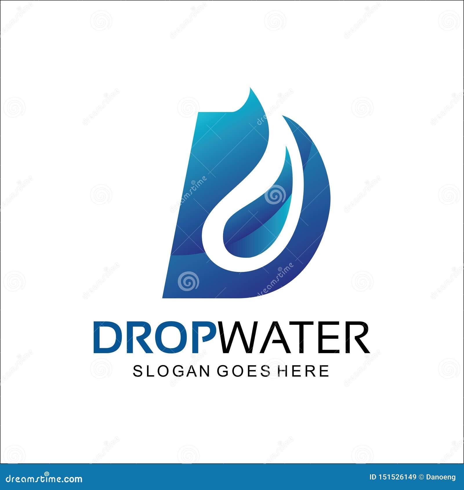Dalingswater, het abstracte embleem van D