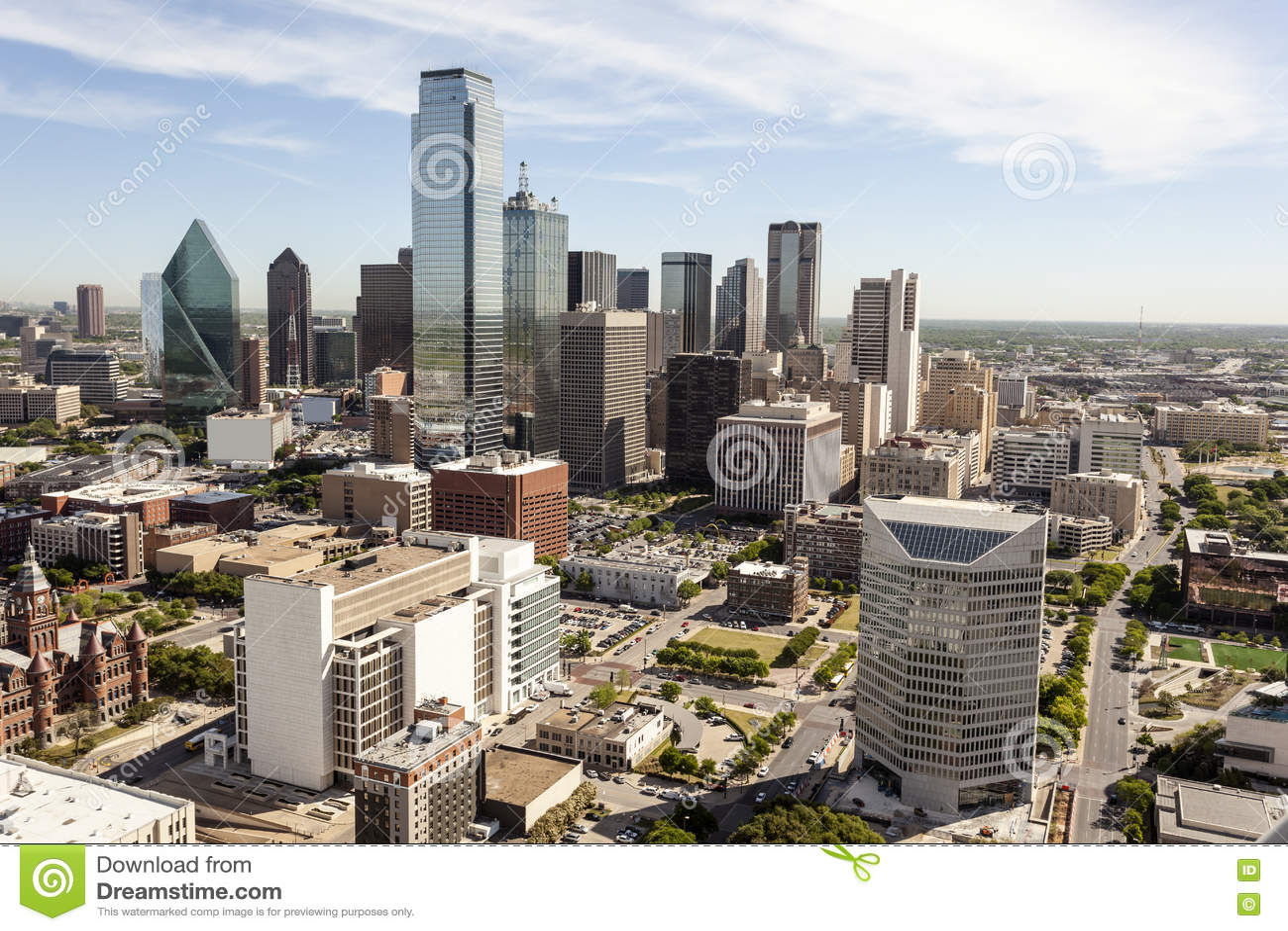 Dallas śródmieścia linia horyzontu