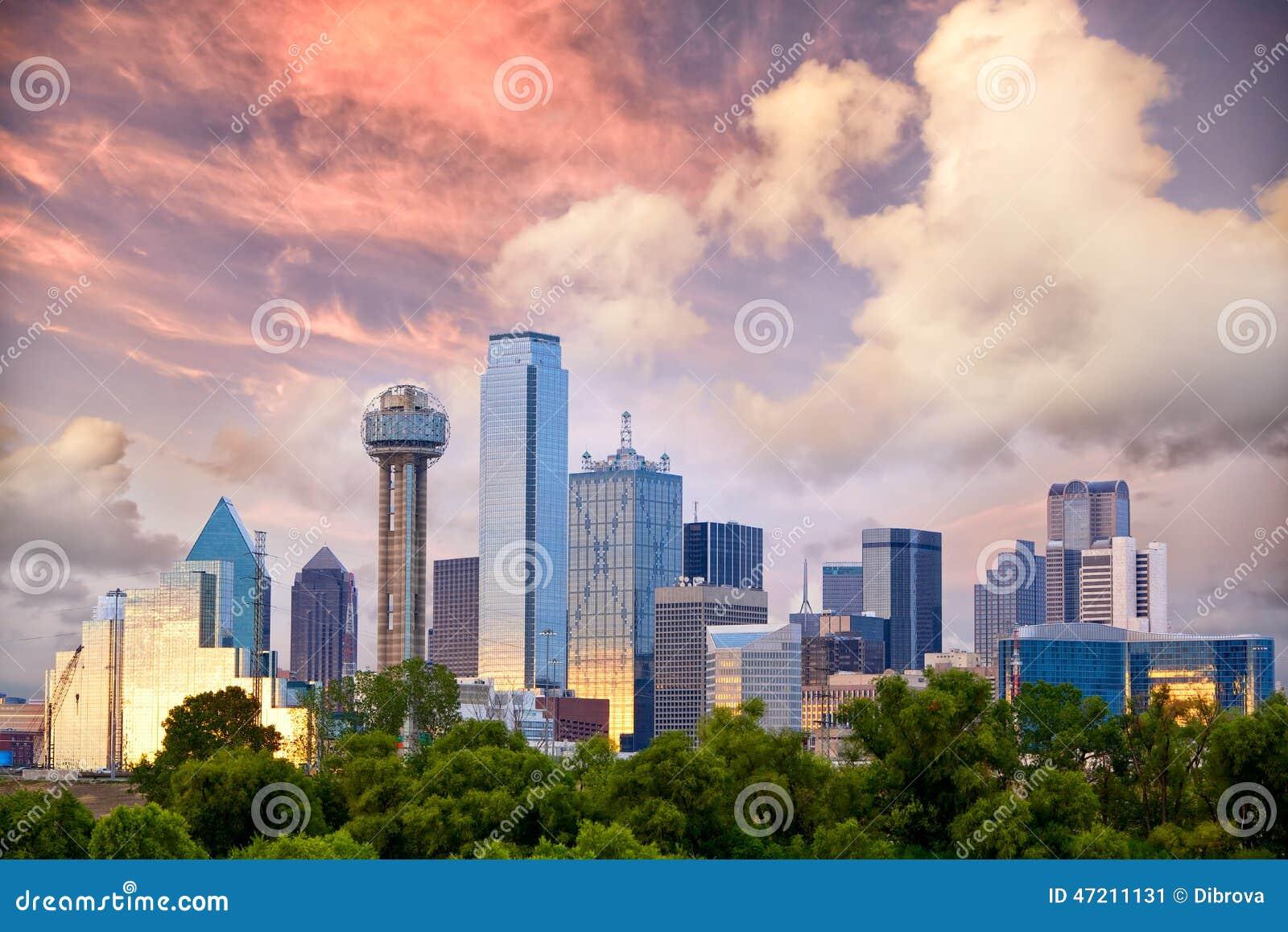 Dallas au coucher du soleil