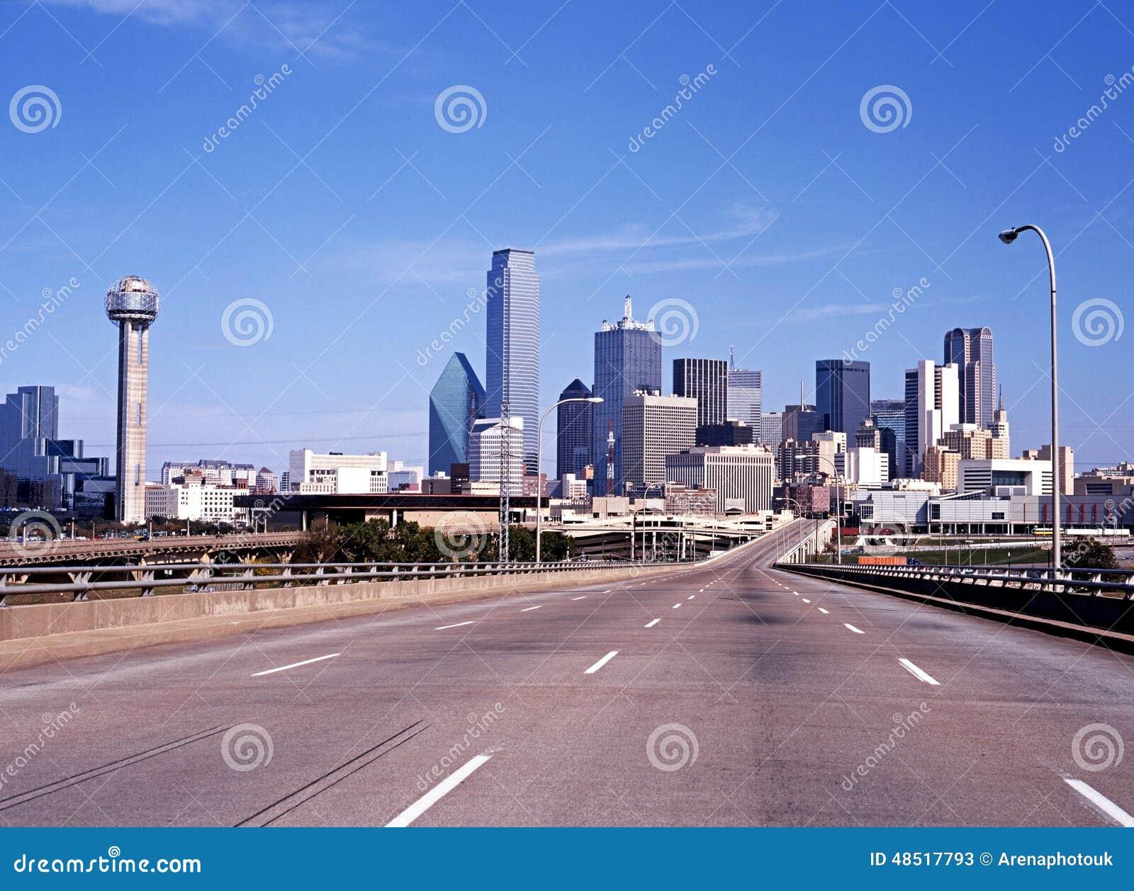 Dallas city skyline.