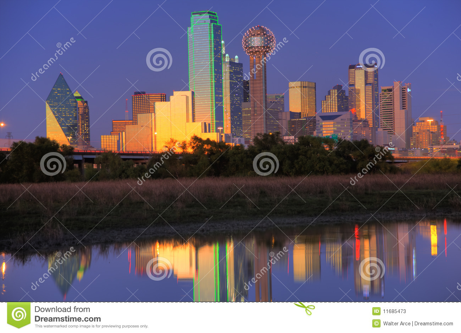Dallas półmroku linia horyzontu tx