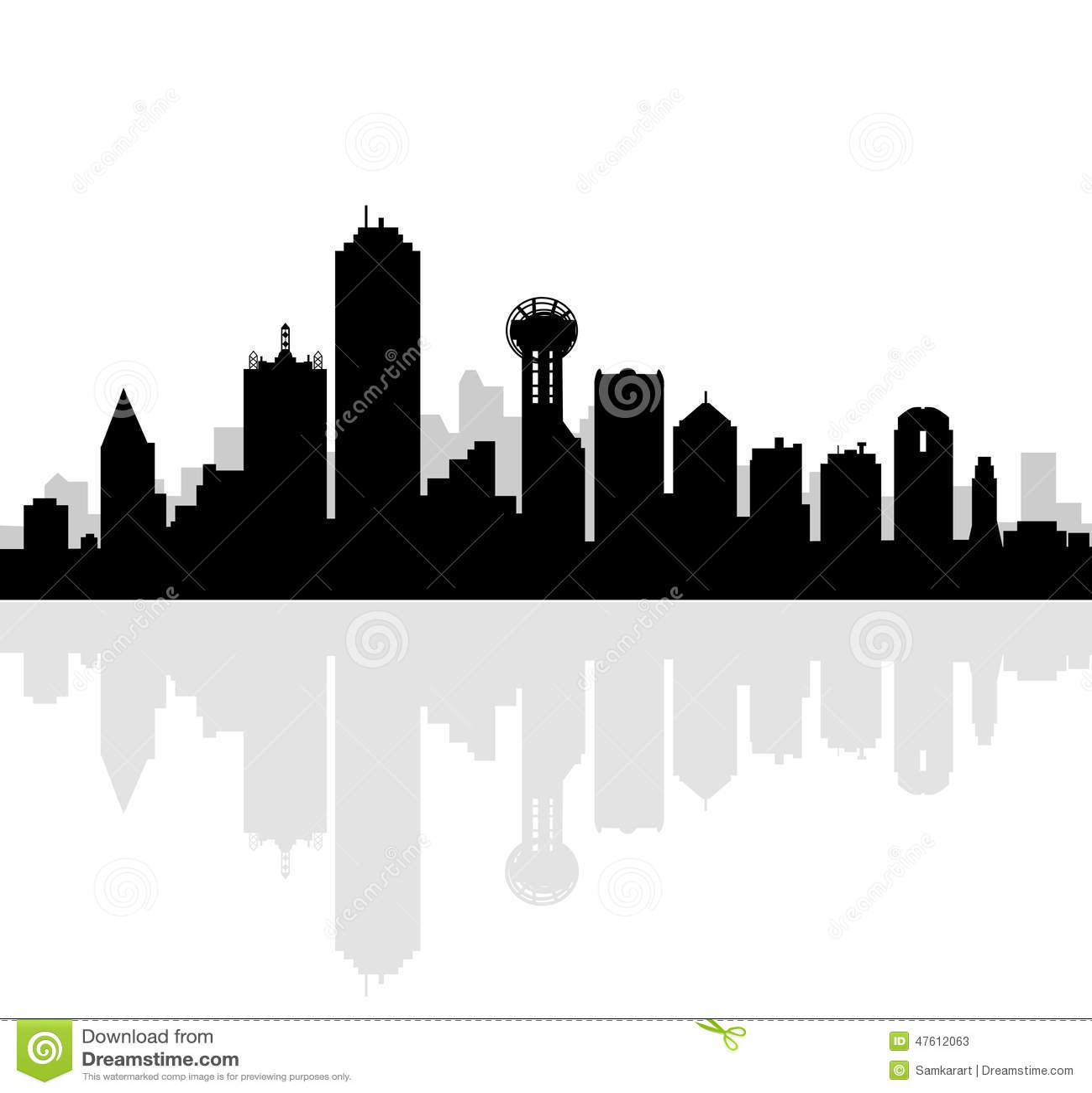 Dallas Skyline-Vector Stock Vector - Image: 47612063
