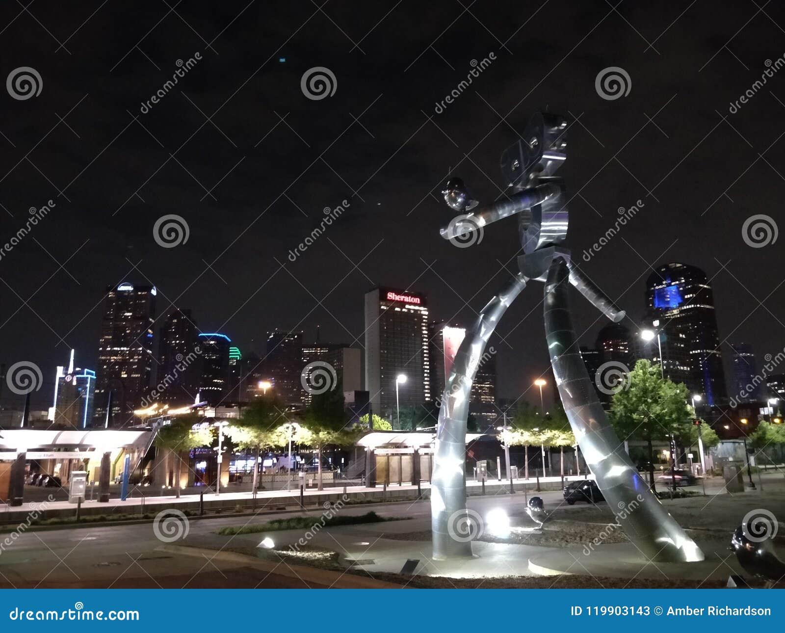 Dallas Tx horisont med roboten