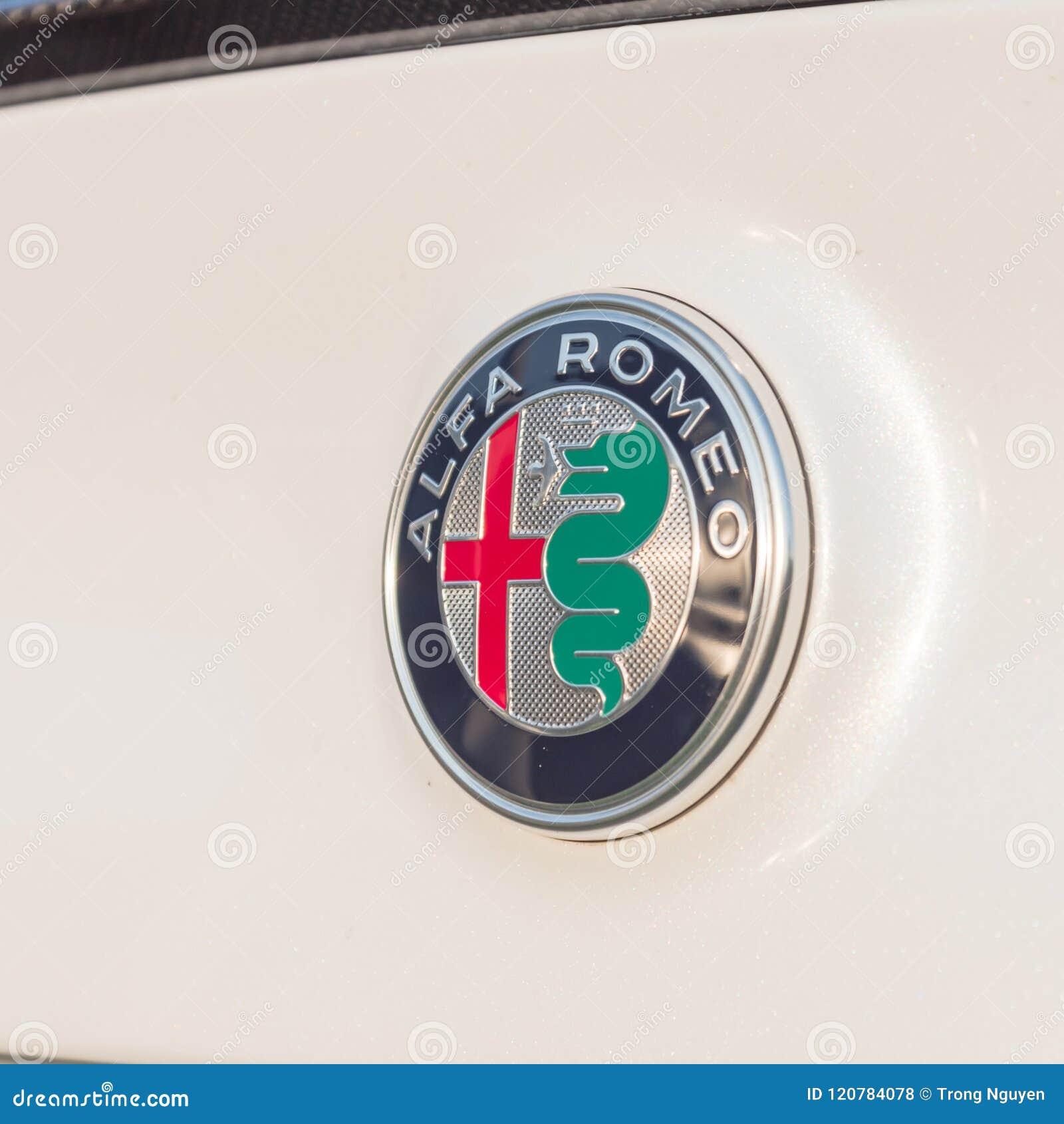 Alfa Romeo Automobiles Logo On Sport Car Trunk Editorial Stock Photo