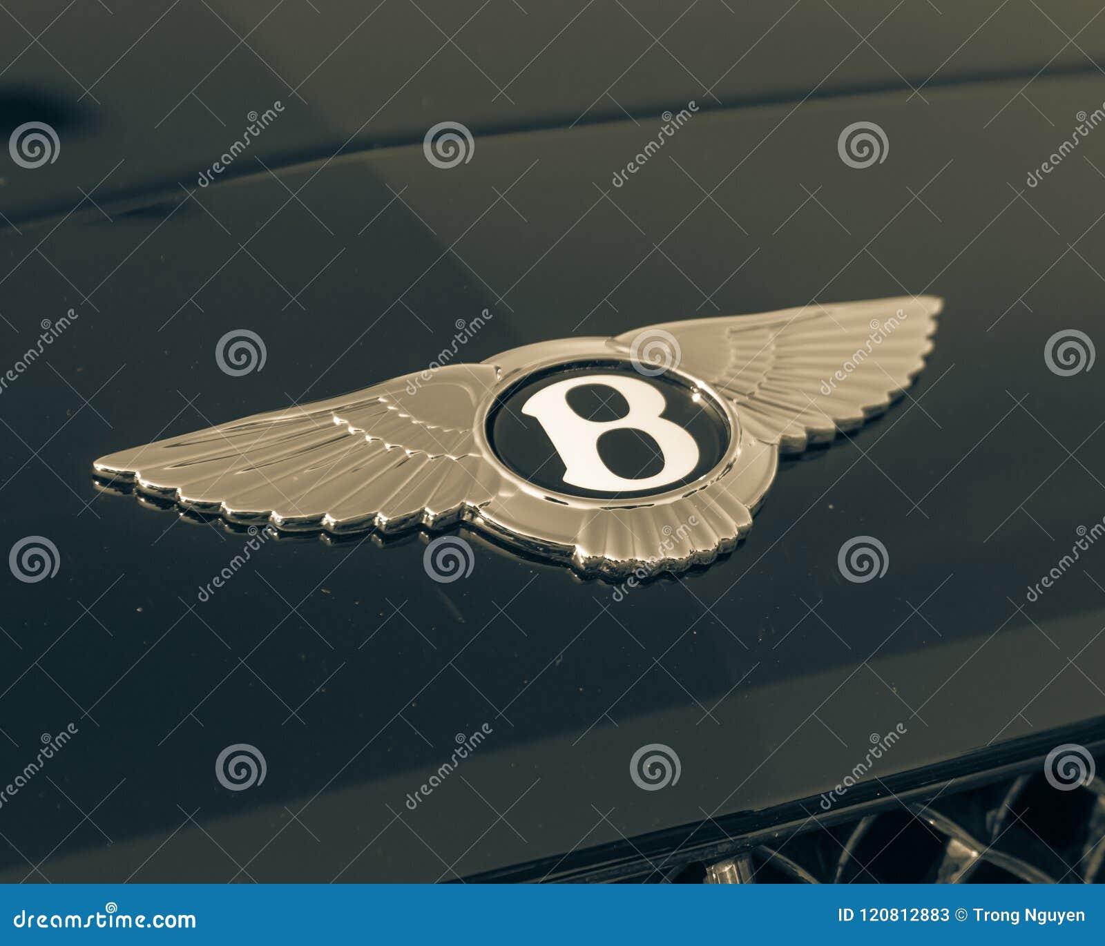 Vintage Tone Logo Of Bentley Luxury Car Brand Editorial Stock Photo
