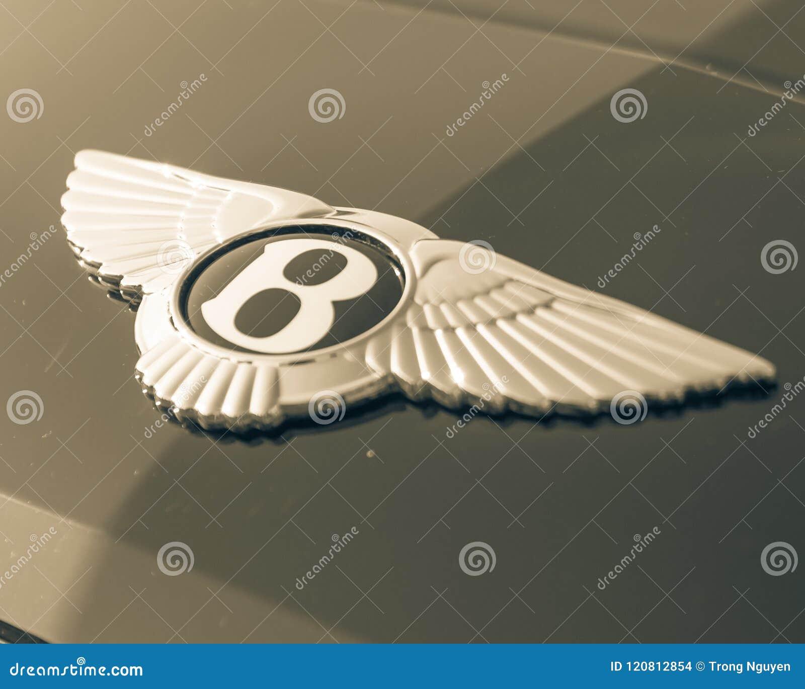 Vintage Tone Logo Of Bentley Luxury Car Brand Editorial Stock Image