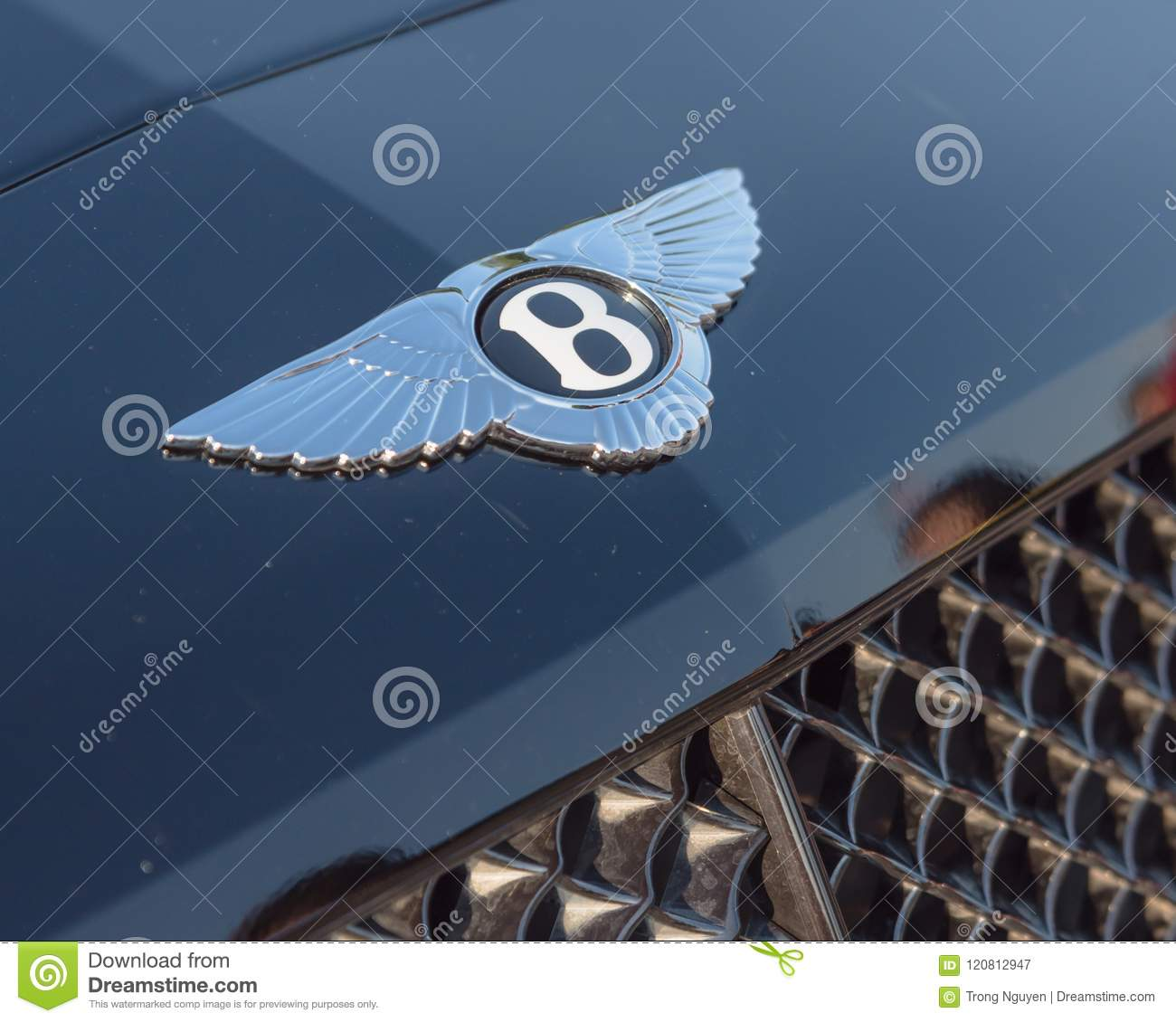 Close Up Logo Of Bentley Luxury Car Brand Editorial Photography