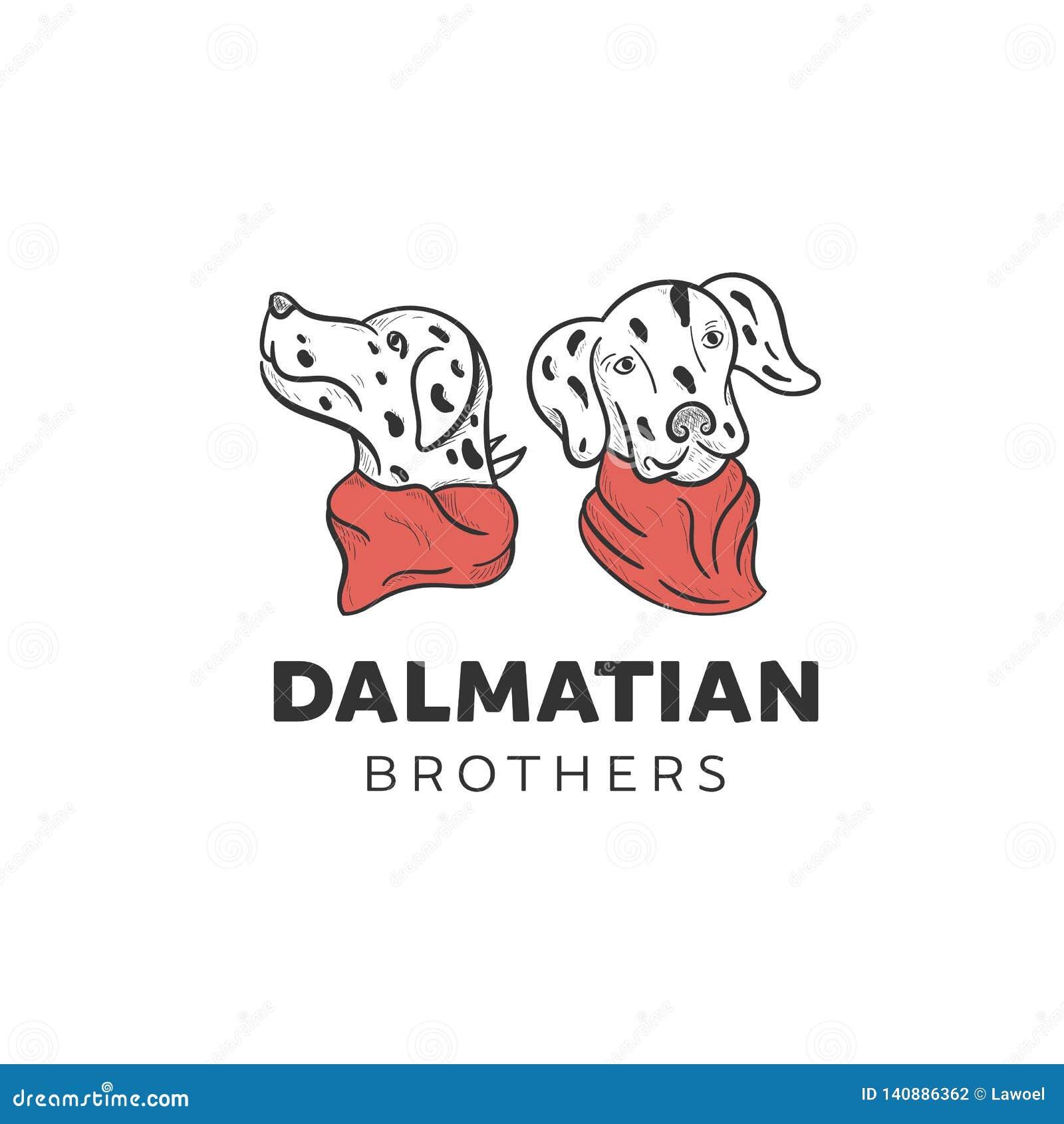 Dalmatian dogs illustration designs