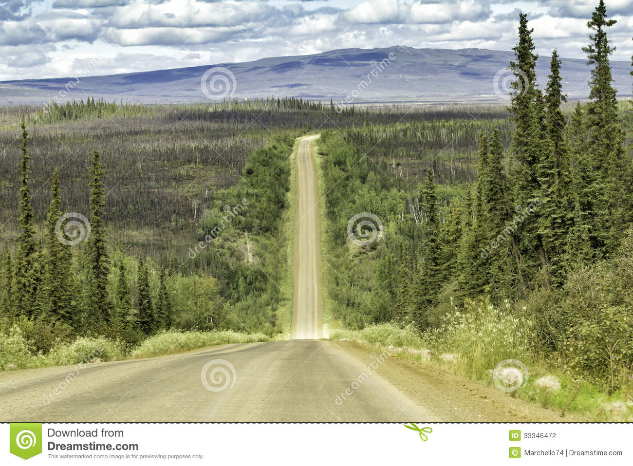Dalton Highway In Alaska Stock Photography - Image: 33346472