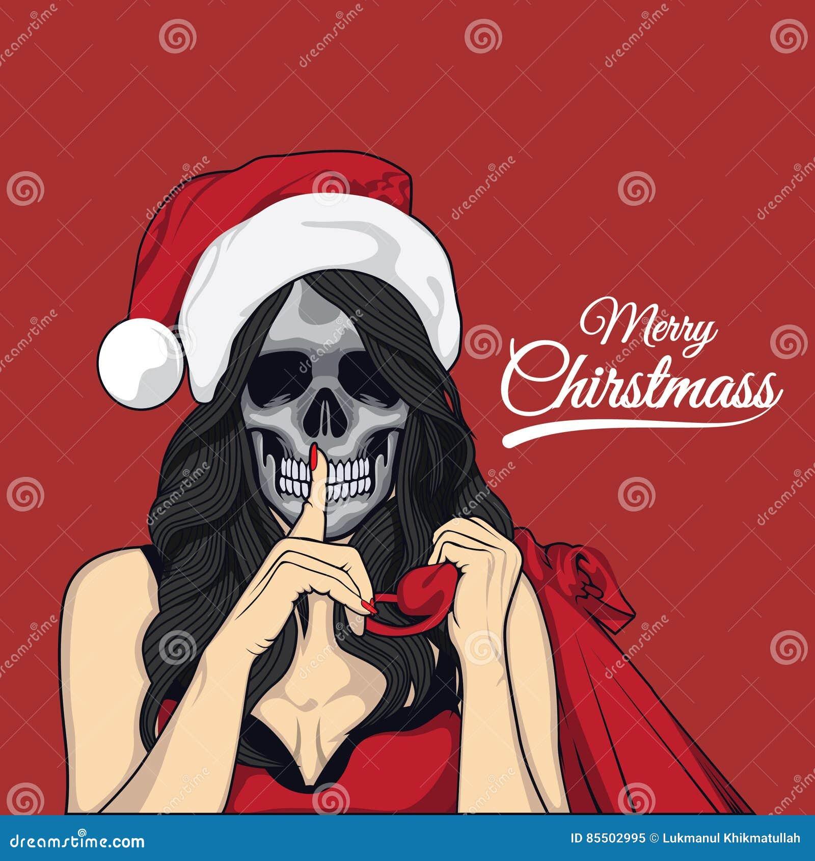 Dam christmass i czaszka