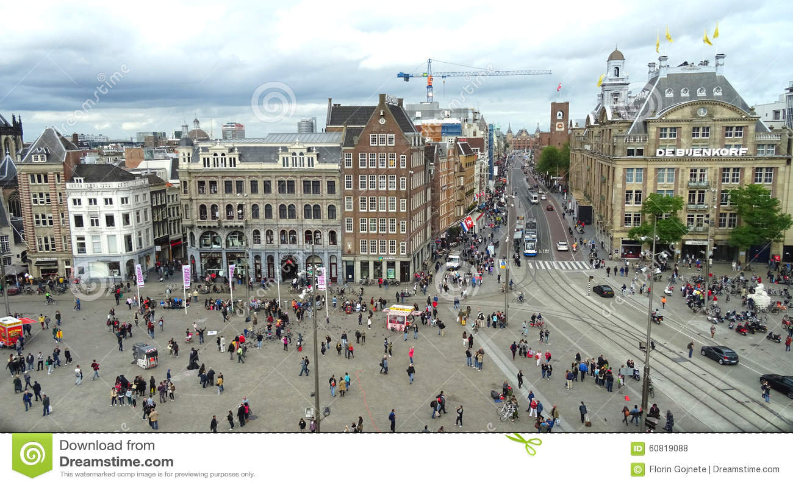 Dam square view amsterdam editorial stock photo image of for Ostello amsterdam piazza dam