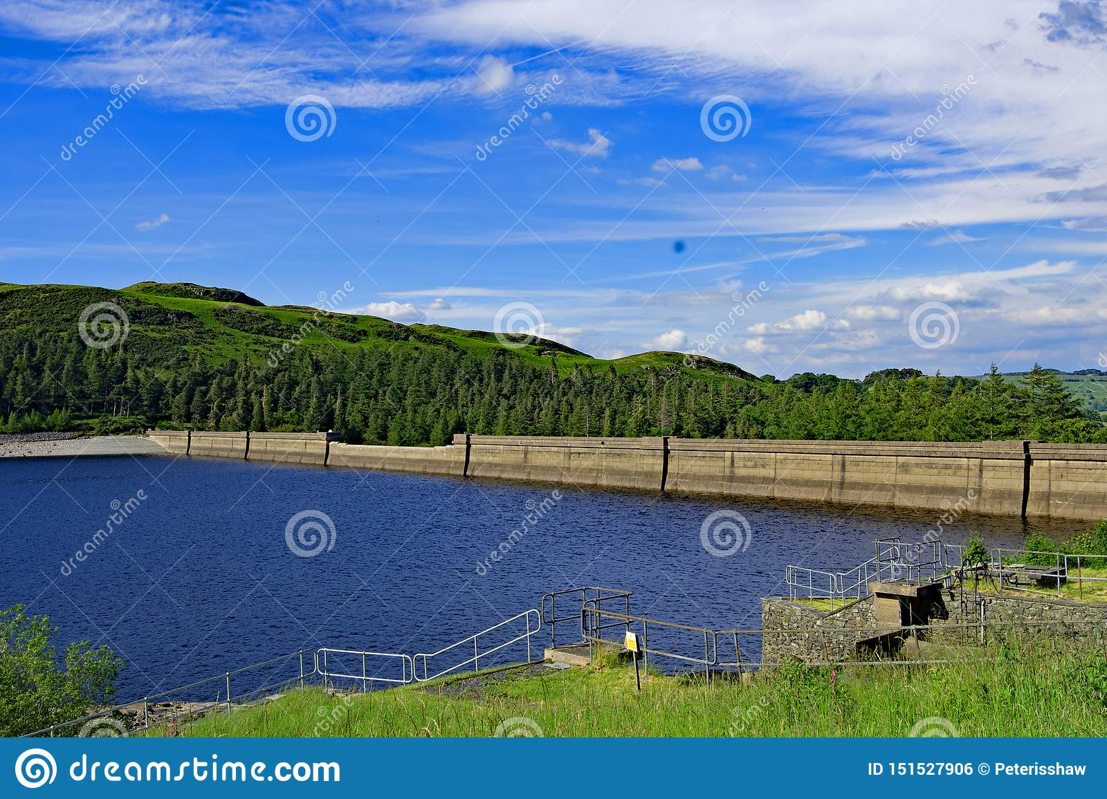 The Dam wall at Haweswater Reservoir 2, Cumbria, England.