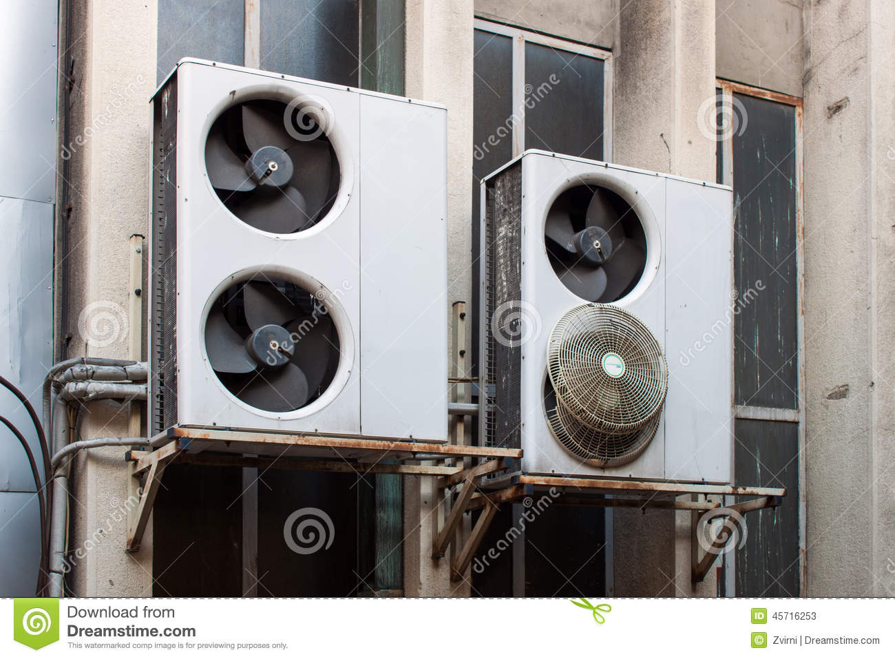 Damaged air conditioning