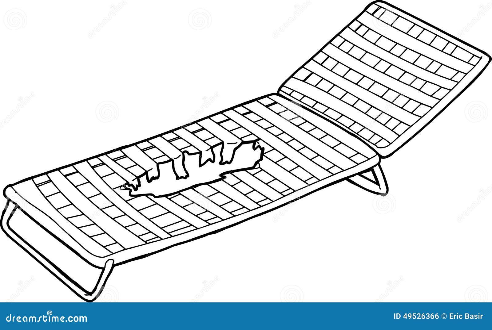 Damaged Deck Chair Outline Stock Illustration - Image: 49526366