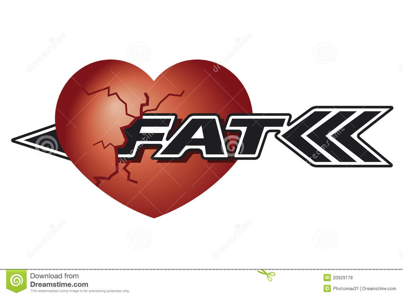 Damaged heart caused fat eating stock illustration illustration damaged heart caused fat eating biocorpaavc