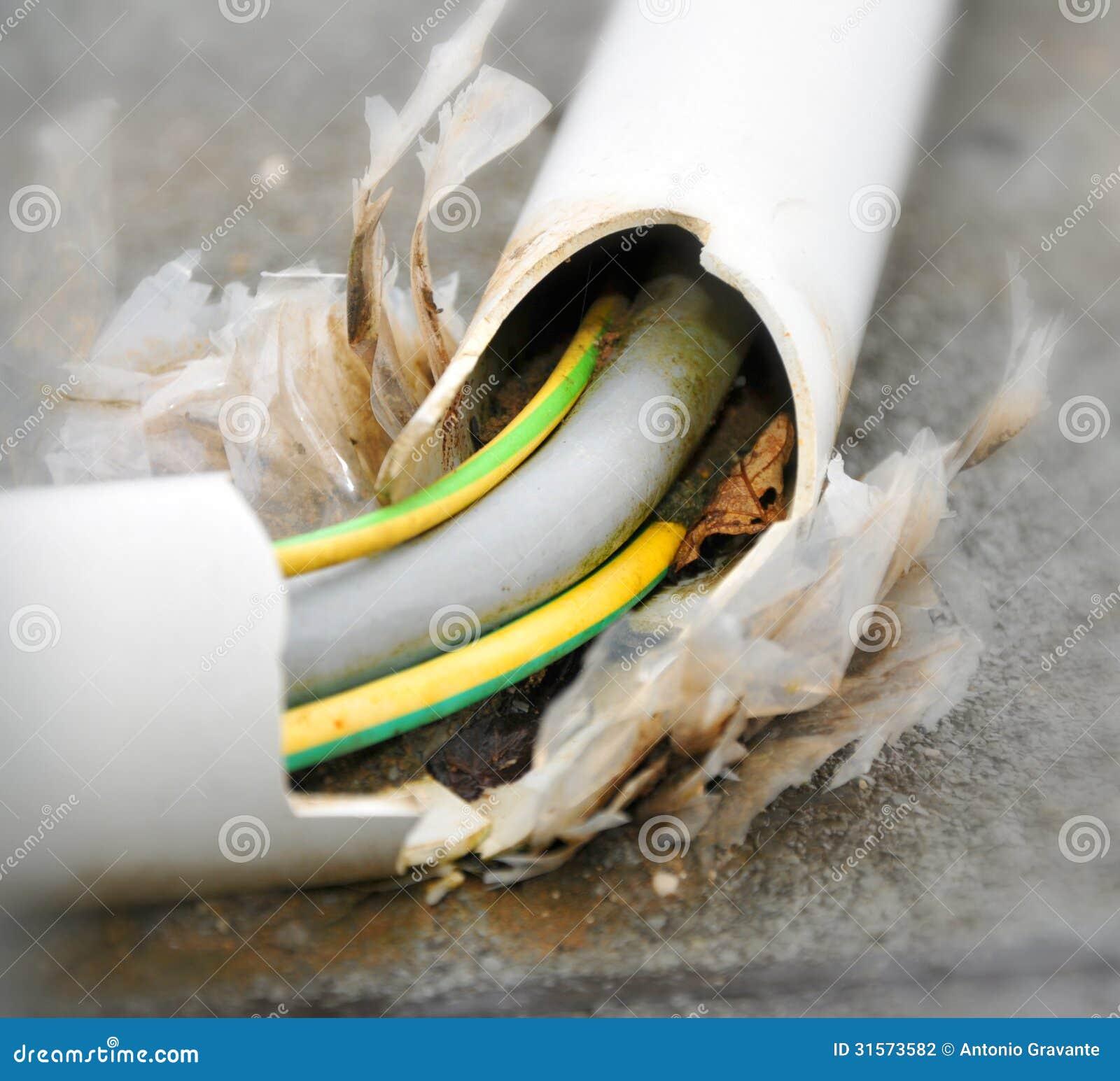 Damaged Electrical Cords : Damaged power cord stock photo image of macro metal