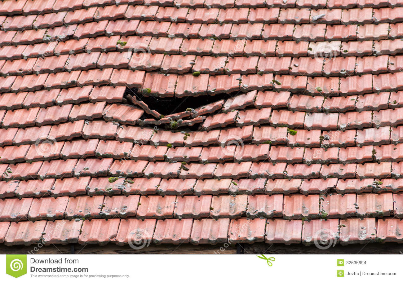 Damaged Roof Stock Photo Image Of Collapses Contractor
