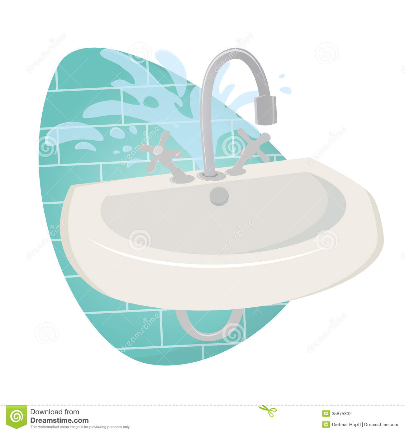 Damaged Sink Stock graphy Image