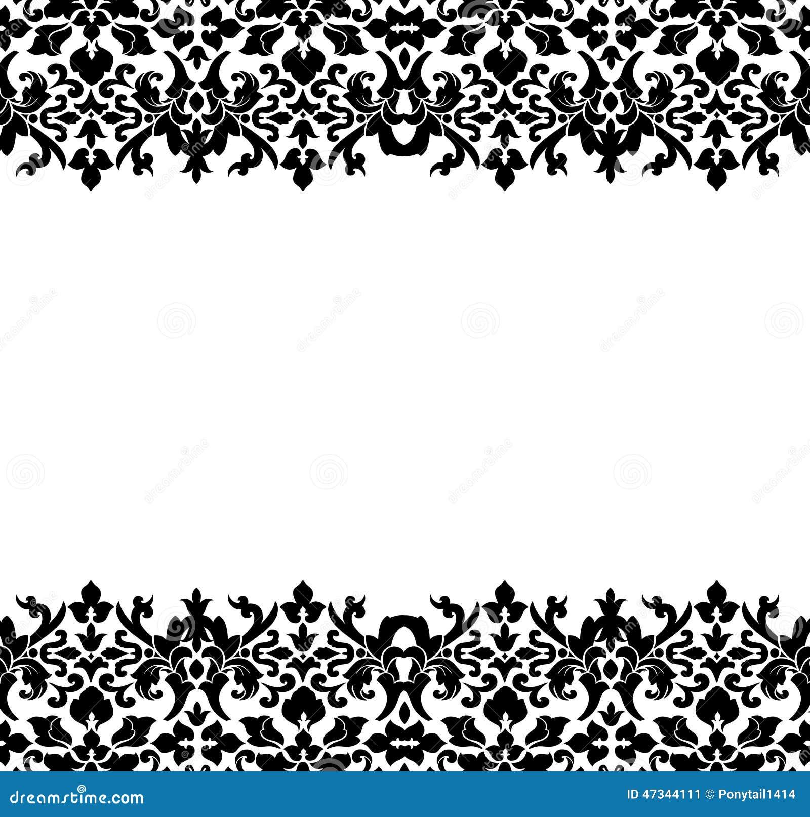 Vector Set Of Damask Ornamental Elements. Stock Vector - Image ...