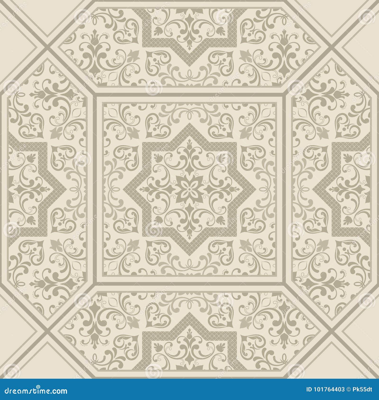 Damask Pattern. Tile. Orient Vector Classic Pattern