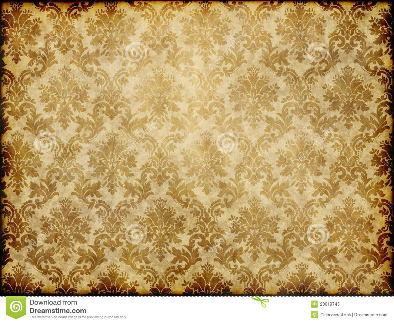 Damask patterned wallpaper royalty free stock photo - Papel de pared retro ...