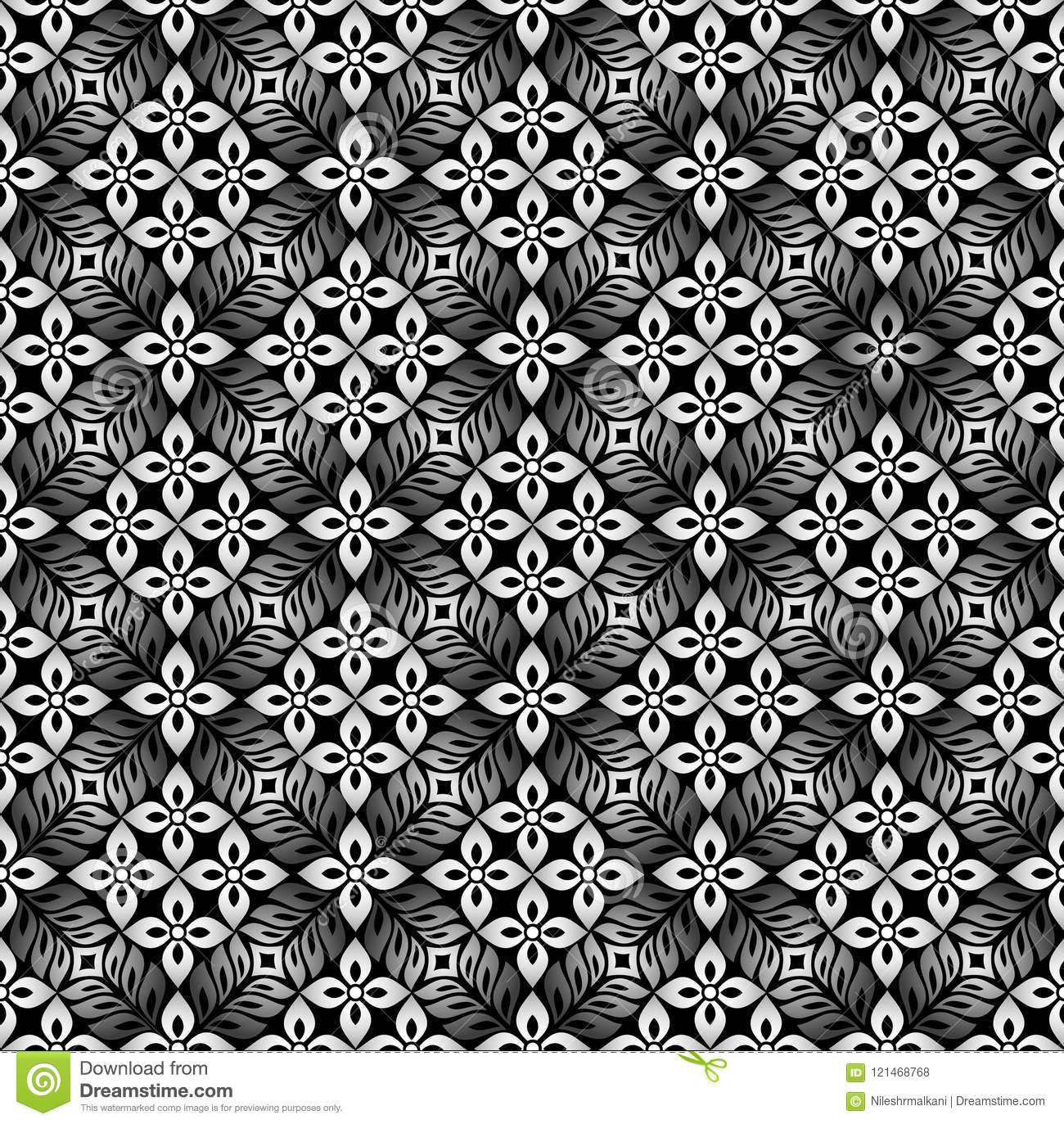 Damask Royal Dark Floral Wallpaper Stock Vector Illustration Of
