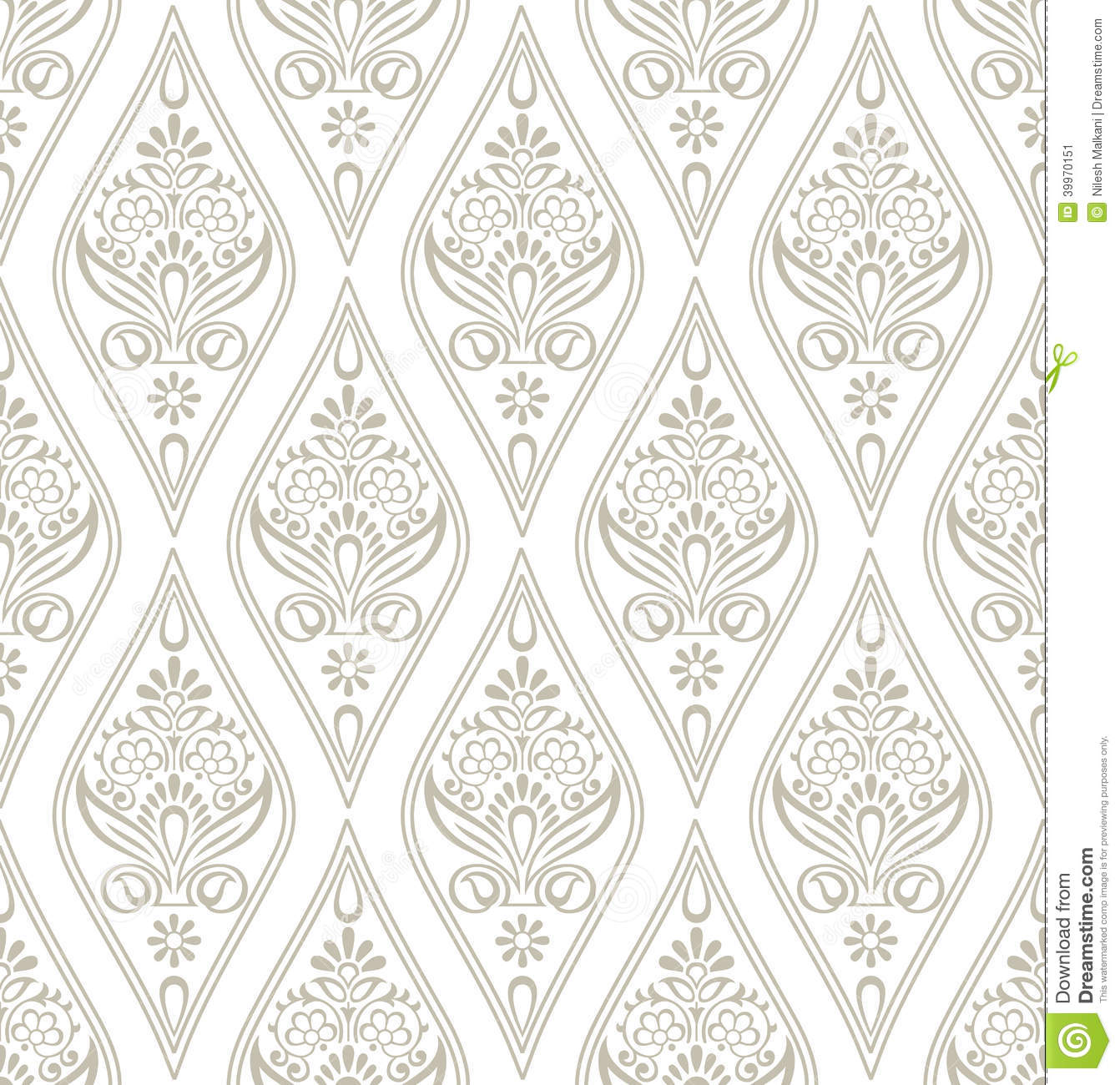 Damask Royal Wallpaper Stock Vector Illustration Of Tile