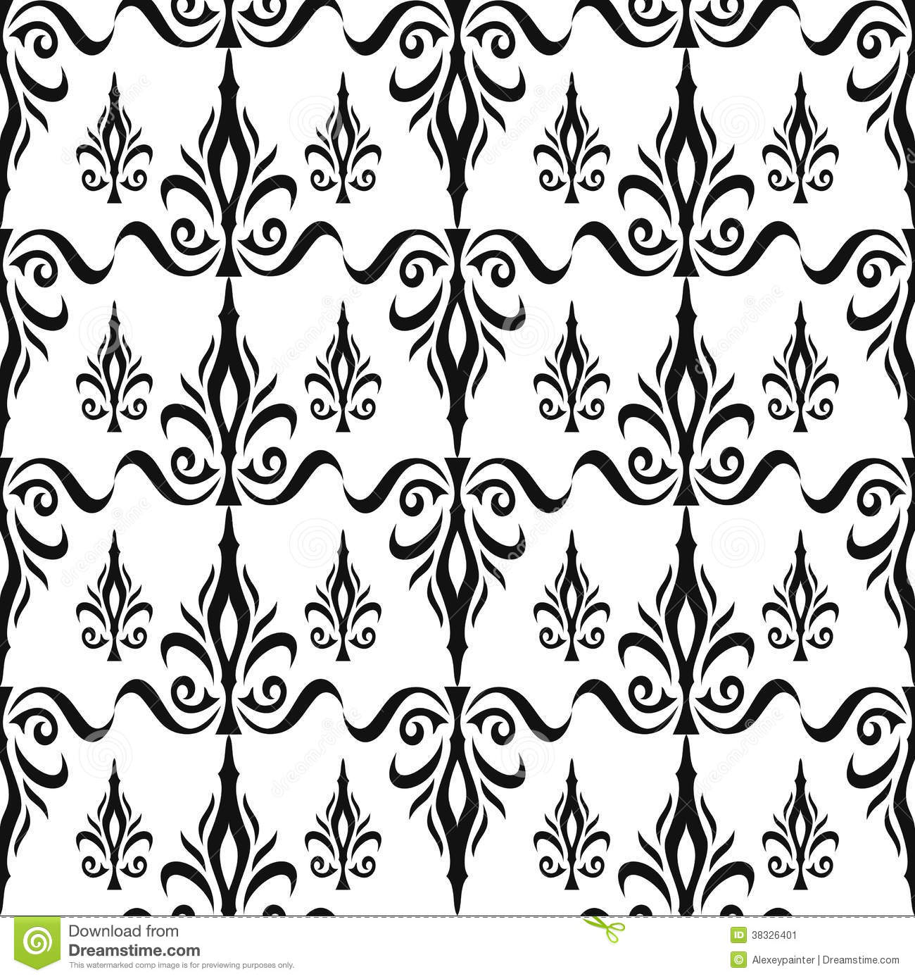 Damask Seamless Floral Pattern Royal Wallpaper Flowers And Crowns