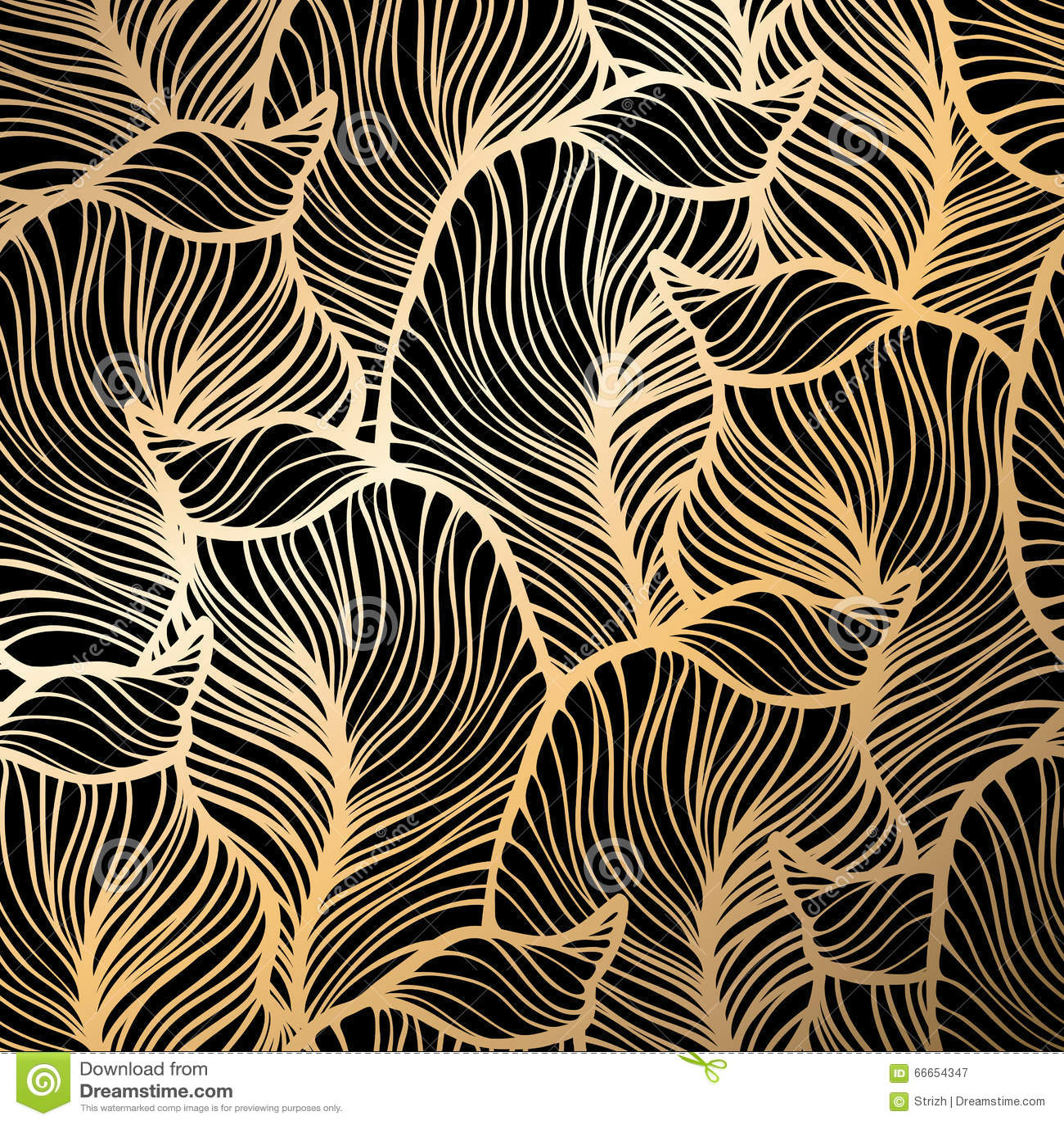 Damask Seamless Floral Pattern Royal Wallpaper Gold Ornate