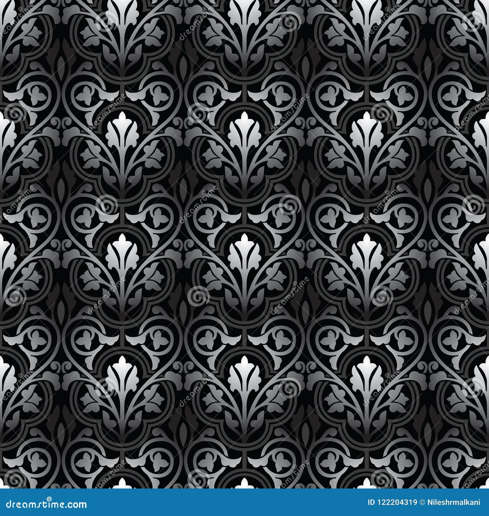 Damask Seamless Floral Wallpaper Stock Vector Illustration Of