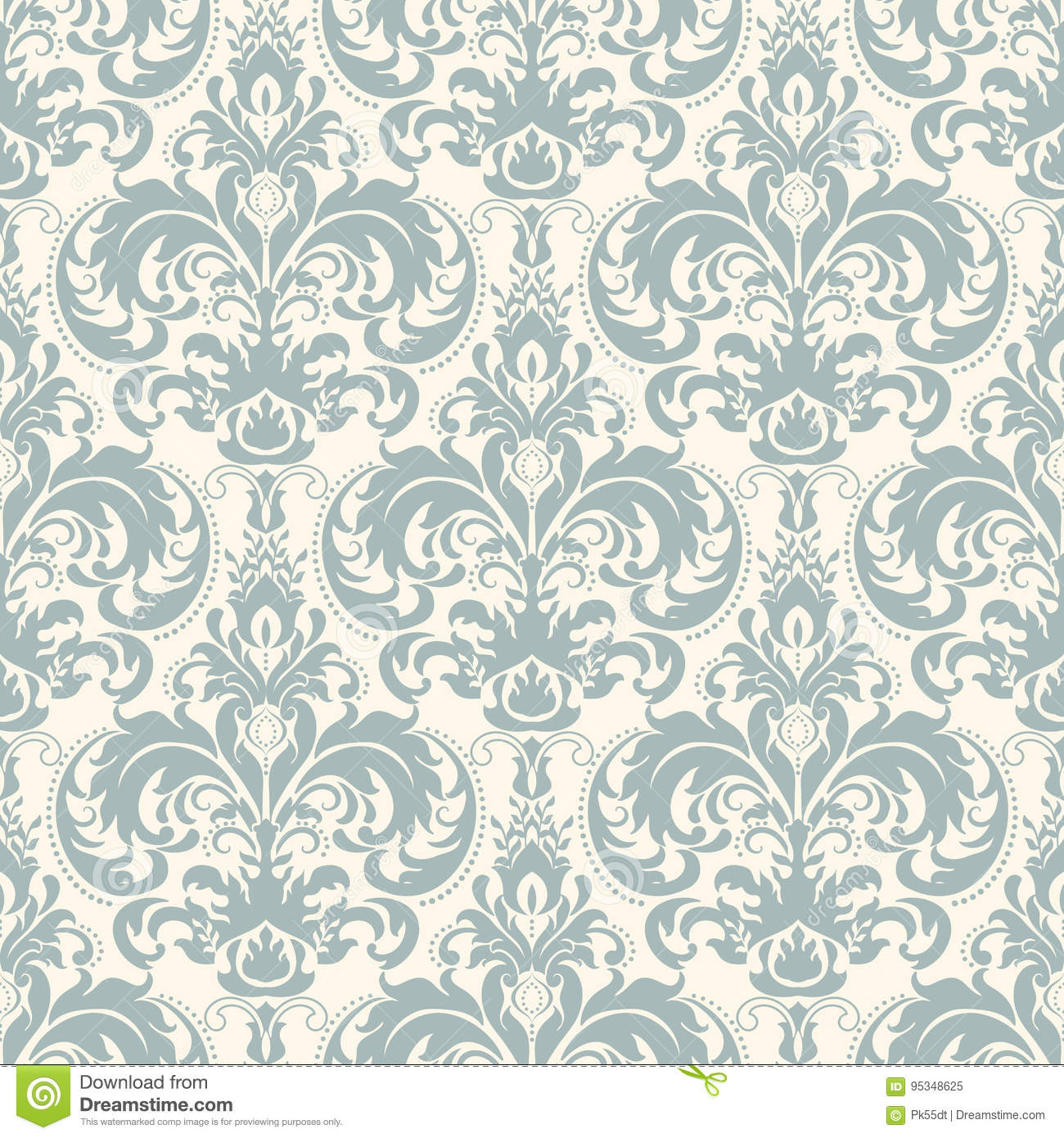 Damask seamless pattern background. Classical luxury old fashioned damask ornament, royal victorian seamless texture.