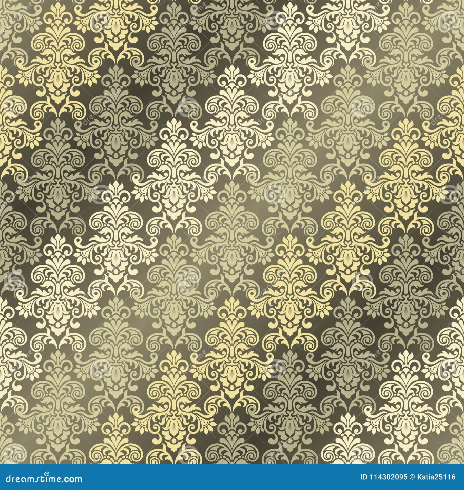 Seamless Oriental Pattern. Damask Classic Pattern. Stock