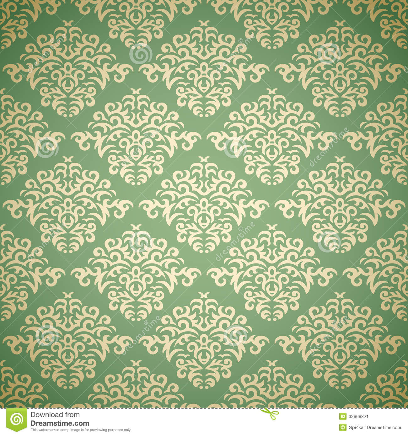 Damask Seamless Pattern Stock Vector Illustration Of Paper