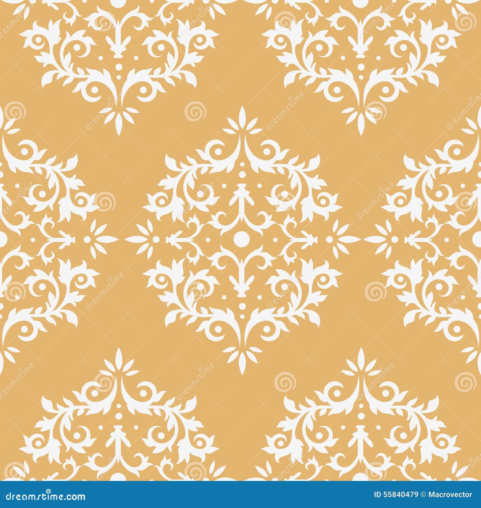Damask Seamless Pattern Stock Vector Illustration Of Luxury