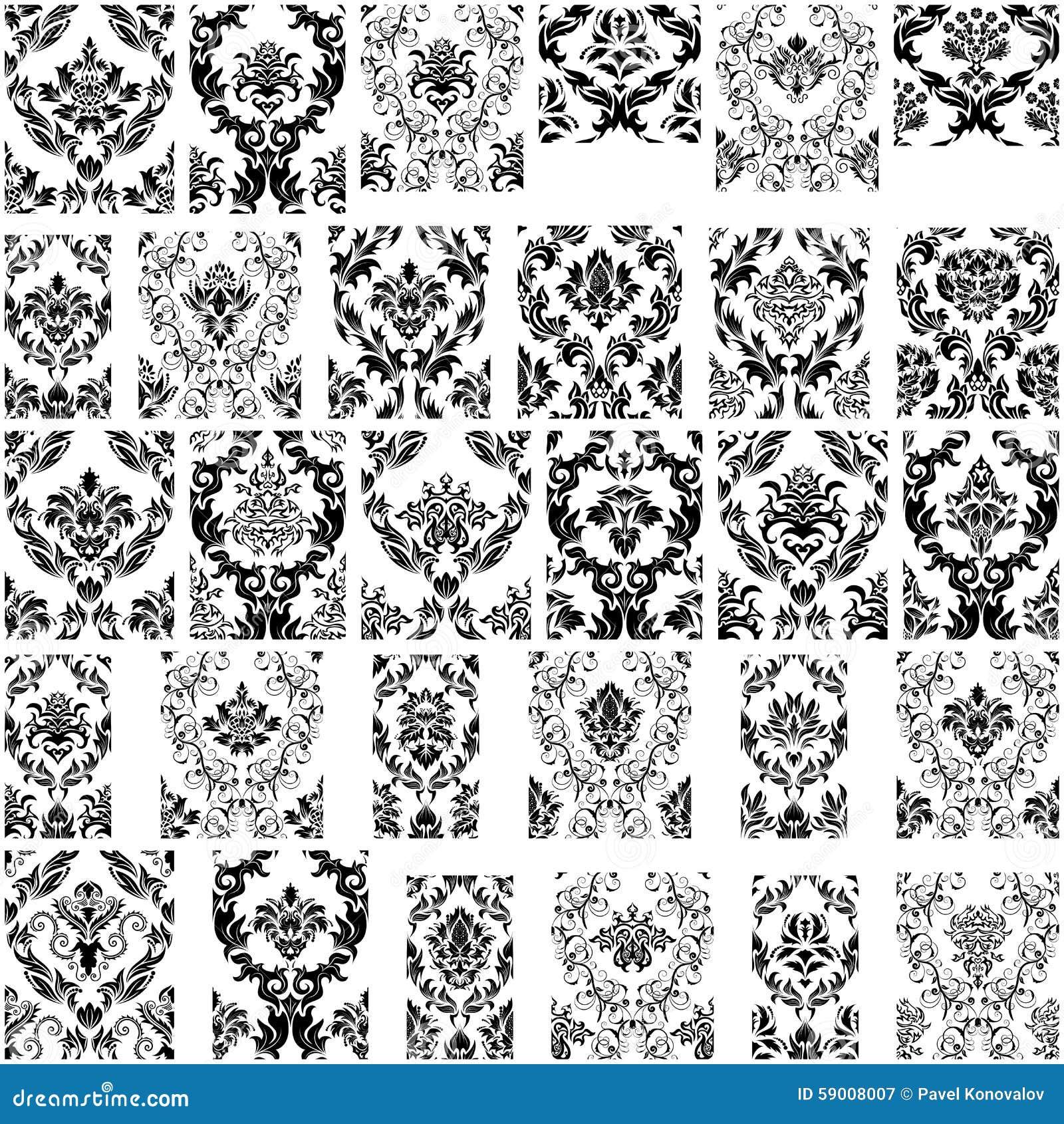 swirling royal pattern wallpaper - photo #29