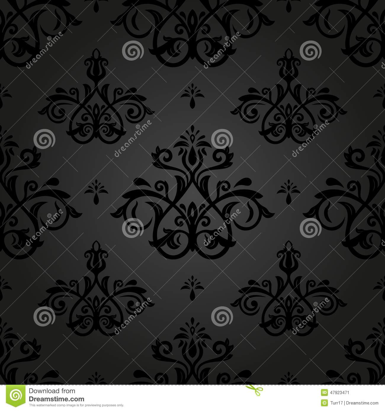 Damask Seamless Vector Pattern. Orient Background Stock