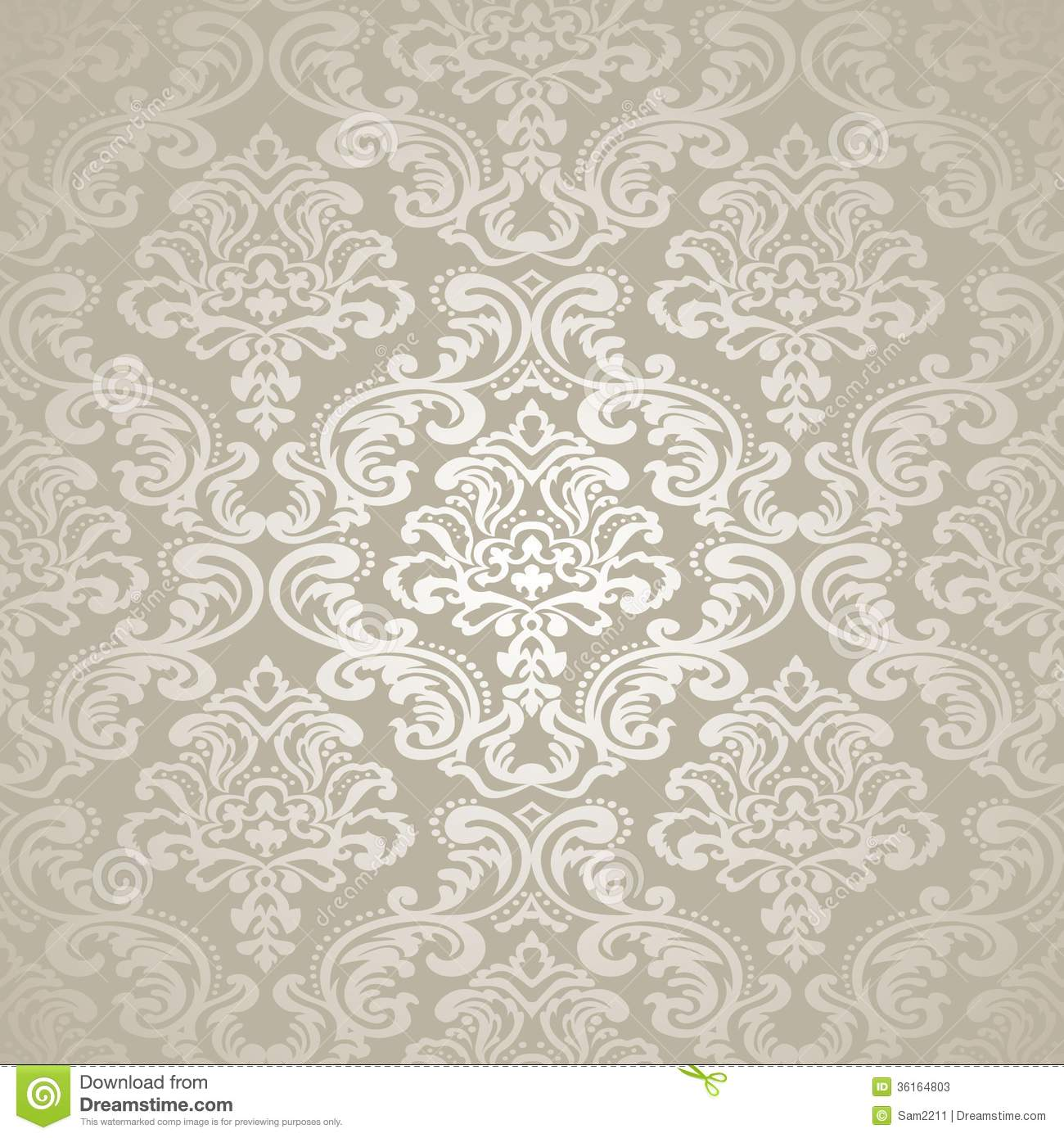 Damask Vintage Floral Seamless Pattern Background. Stock ...